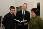 Gerard Cahill (DERI), Dr. Kieran Loftus (Executive Director of Operations, NUI Galway), Dr. Sharon Flynn (CELT, NUI Galway)