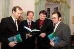 Dr. John Breslin, Dr. James J. Browne (President, NUI Galway), Prof. Stefan Decker (DERI), Dr. Alexandre Passant (DERI)